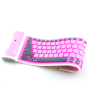 New Pink Portable Silicone Wireless Flexible Bluetooth Keyboard for iPad 1 2 3