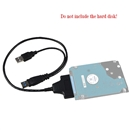 USB3.0 to SATA 22Pin Data Power Cable Adapter for 2.5inch HDD Hard Disk Driver black
