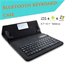Removable Bluetooth Keyboard w/ Leather Cover Case For 9.7-10.1 inch Tablet PC