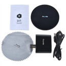 Black FCT002 Wireless Charger Qi Charging Pad for Samsung Galaxy S6 / S6 Edge Plus