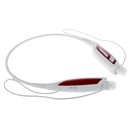 Wireless Bluetooth Handfree Sport Stereo Headset Headphone for Samsung iPhone LG White and Red