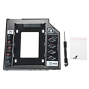 9.5mm Universal SATA 2nd HDD Caddy SSD Hard Drive +Panel for DVD-ROM Optical Bay