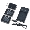 Battery (2-Pack) and Charger for Fujifilm NP-W126 and Fuji FinePix HS30EXR, HS33EXR, HS50EXR, X-A1, X-E1, X-E2, X-M1, X-Pro1, X-T1 black